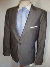 MENS TED BAKER LONDON GREY SUMMER FALL COTTON SUIT JACKET 38 R WAIST 34 LEG 31.5