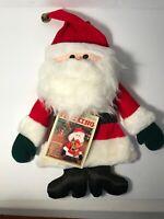 Vintage 1981 Christmas Stocking Hallmark Stuffables Santa Claus Plush NOS