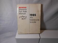 1985 Honda Atv Motorcycle Scooter Warranty Flat Rate Manual S0083 Fs215