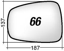 C8 - FIAT ULISSE - PHEDRA - 807 >2008 66S RICAMBIO SPECCHIO SINISTRO + BIADESIVO