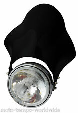 Dark Smoked Bubble Flyscreen Fly Screen for Round Headlight Bandit CBF Hornet