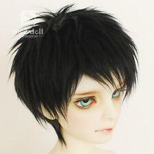 Full Size Black Feather BJD Doll Fur Wig for BJD 1/3 1/4 1/6 1/8 1/12 HH27