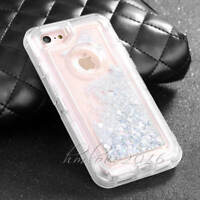 Fashion 3in1 Quicksand Dynamic Clear Liquid Clip Case Cover For iphone 7 6S Plus