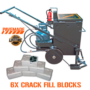Asphalt Crack Filling Machine + 6 Rubberized Crack filler Tar Blocks Sealcoating