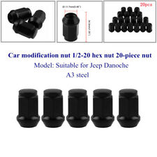 20-Piece A3 steel Nut Car Modification Nut 1/2-20 Hex Nut Fit For Jeep Danoche