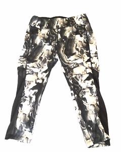 Avia RH5MO80 Small S womens black white Stretch Yoga Leggings Workout Pants