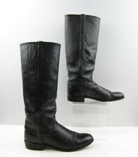 Ladies Justin Black Leather Buckaroo Cowboy Western Boots Size: 7.5 B
