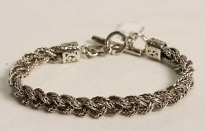 Lois Hill .925 Sterling Silver Link Toggle Bracelet $350 New