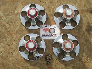 1968-80 AMC AMX, GREMLIN, JAVELIN, PACER VOLCANO CENTER CAPS, SET OF 4 W/ SCREWS