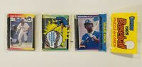 Ken Griffey Jr RC SHOWING 1989 Donruss Rack Pack Edgar Martinez RC also on top!