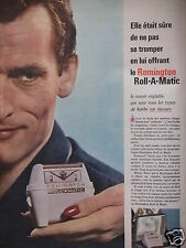 PUBLICITÉ 1960 REMINGTON ROLL A MATIC RASOIR - ADVERTISING