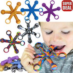 Sensory Toys Chew Fidget Hexichew Calming Autism Special Needs Stress Reliever