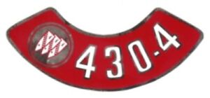 BUICK 1967, 1968 & 1969 430-4V Air Cleaner Decal