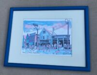 Robert Kennedy Watercolor Print Signed, Matted,Framed Provincetown Street 1983