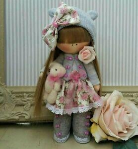 Handmade Rag Doll Hand made in UK Tilda doll Ooak doll EMILY 8 inch tall
