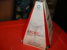 new AIRDRY wine glass drying rack crystal clear results holds 4 glasses size