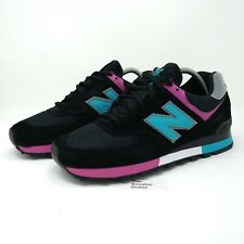 Men's New Balance 576 BTP UK Size 12.5 Black Suede Trainers Made in England