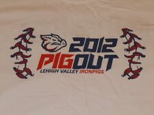 LEHIGH VALLEY IRONPIGS 2012 PIGOUT SHIRT MENS LARGE PHILLIES