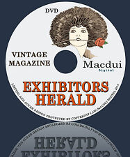Exhibitors Herald 27files Vintage Magazines 305 Issues 1 DVD Silent Movie Review
