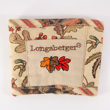 Longaberger Fabric Coffee Sleeve Travel Mug Cozy - Fall Leaves Pattern