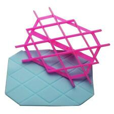 Pink Fondant Quilt Square Cutter Cake Cupcake Embossing Decorating Tool Embosser