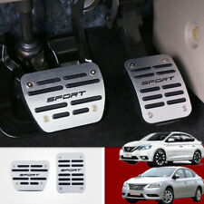 Silver Foot Gas Brake Pedal Automatic Accessories For 2013-2018 NISSAN Sentra AT