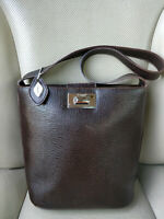 I Santi Italy Vintage Womens Leather Purse Shoulder Bag Pouch Satchel Saddle