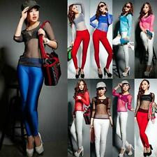 Women Gauze Sheer Tops Slim Sexy Long Sleeve Blouse T-Shirt Party Tops Clubwear