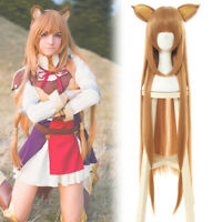 The Rising of the Shield Hero Raphtalia Brown Cosplay Wig Long Straight WomenWig