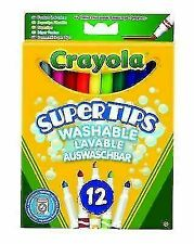 Crayola SuperTips Washable Felt Tip Colouring Pens - Pack of 12
