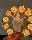 Vintage Christmas 10 Lights Tree Top Decoration Gold tinsel White   Angel/Cherub