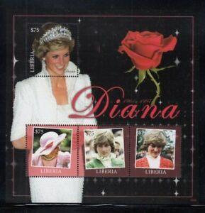 LIBERIA Princess Diana & Red Rose MNH souvenir sheet
