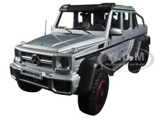 MERCEDES G63 AMG 6X6 SILVER 1/18 MODEL CAR BY AUTOART 76301