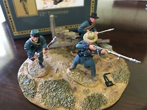 TROIANI CIVIL WAR PAINTED METAL TOY SOLDIERS(3)DIORAMA-12TH TN REBS-NEW IN BOX