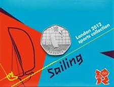 2011 London 2012 Sports Collection Olympic 50p BU coin Card Auction - 20 ROWING
