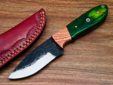 Elegant Custom hand Forged Railroad Spike Carbon Steel Fixed Blade Knife UT-7218