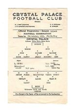 Crystal Palace v Watford Reserves Programme 7.10.1959