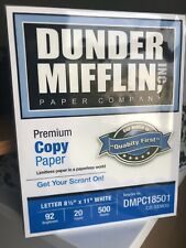 The Office Dunder Mifflin 8.5/11 White Copy Paper. Special Edition Rare