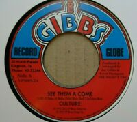 "CULTURE - See Them A Come - 7"" Vinyl - Joe Gibbs Record Globe 🇧🇴 ROOTS REGGAE"