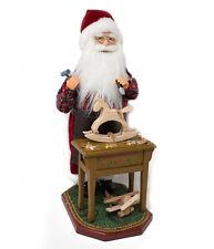 Babbo Natale con Musica e Movimento 45 cm Con Banchetto da Lavoro 43815
