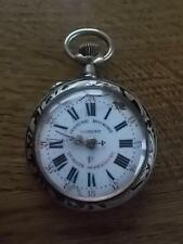 Reloj De Bolsillo Antiguo c19th Plata Roskopf Patent Ginebra exposición ganador 1896