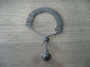 Bracelet ou autre ancien 19ème argent massif boule breloque 24,2 grs