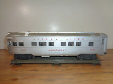 "LIONEL O GAUGE # 2436 ""MOOSEHEART"" LIGHTED OBSERVATION CAR & box"