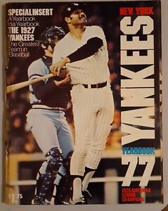 1977 NEW YORK YANKEES 1976 AMERICAN LEAGUE CHAMPIONS BASEBALL YEARBOOK