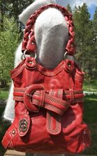 Red by Marc Ecko Large Red Hobo Braided Strap Shoulder/Handbag
