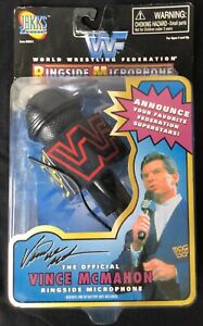 1997 WWF Vince McMahon Official  Microphone Jakks Vintage Opened Taped Shut Rare