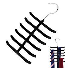 Non-slip Closet Necktie Belt Cloth Shawl Scarf Organizer Rack Holder Hanger Fast