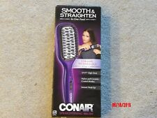New CONAIR Smooth & Straightening Brush Model BC8 Purple