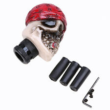 Universal Red Hat Skull Car Truck Manual MT Stick Gear Shift Knob Shifter Lever