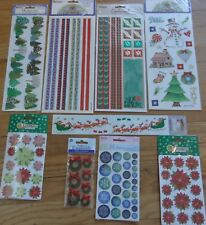 Christmas Set of 9 Sandylion Scrapbooking Sticker Embelishments